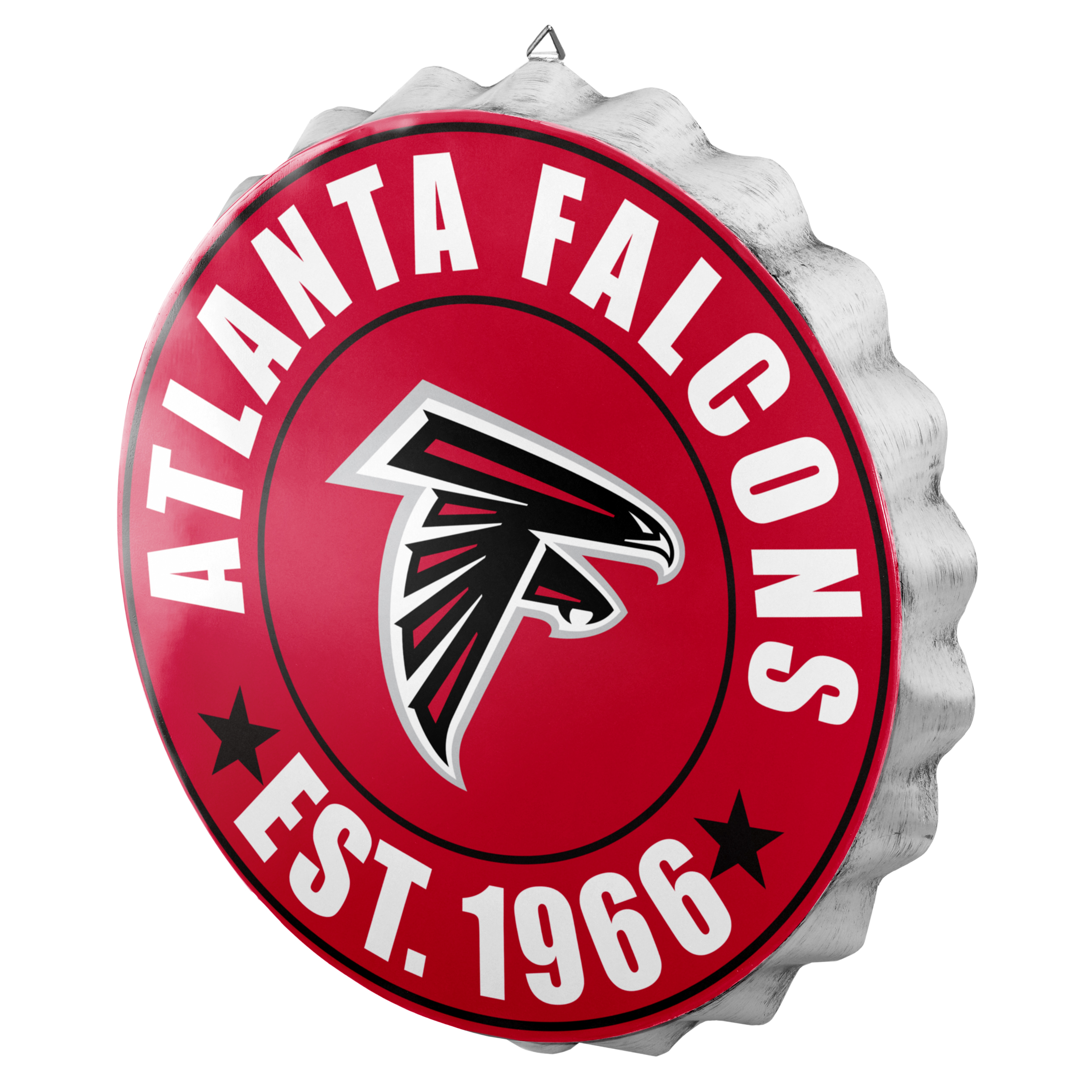 Atlanta Falcons Sign Bottle Cap Style