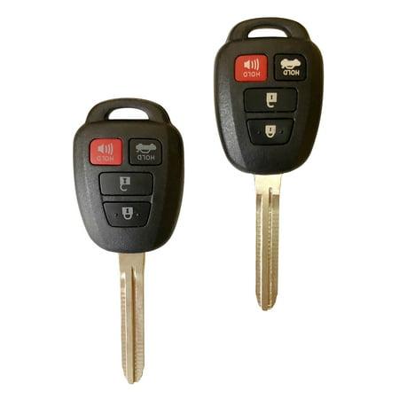 Remote Head Key (2 Uncut For 2012-2014 Toyota Camry Keyless Entry Remote Head Key Fob HYQ12BDM)