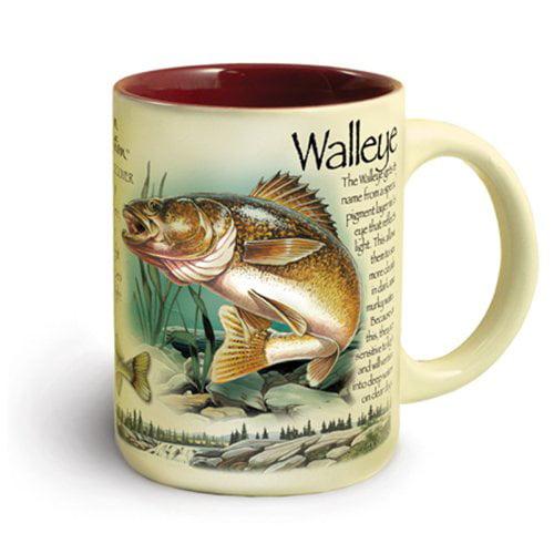 American Expedition Wildlife Ceramic Mug 16 oz - Walleye