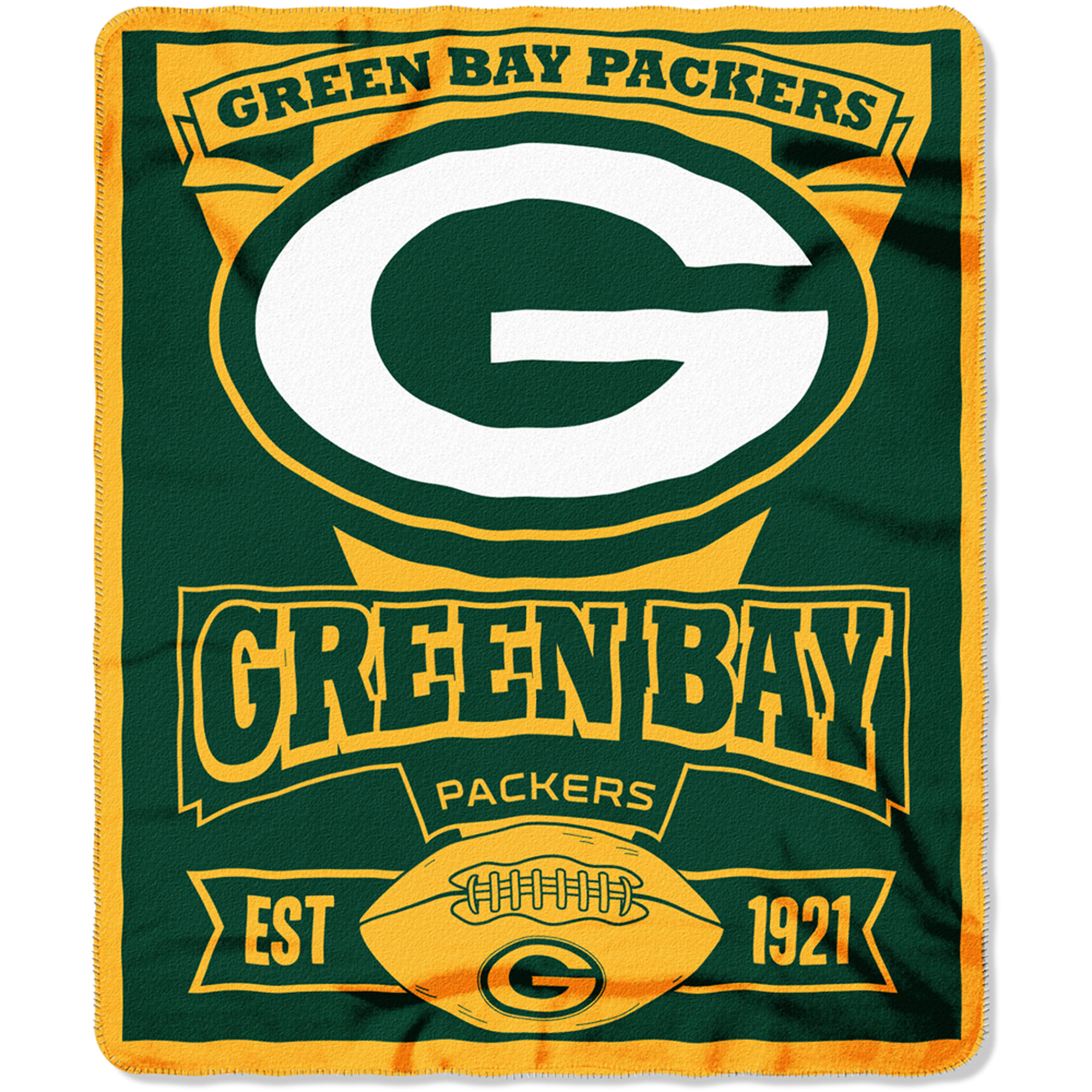 "NFL Green Bay Packers 50"" x 60"" Fleece Throw"