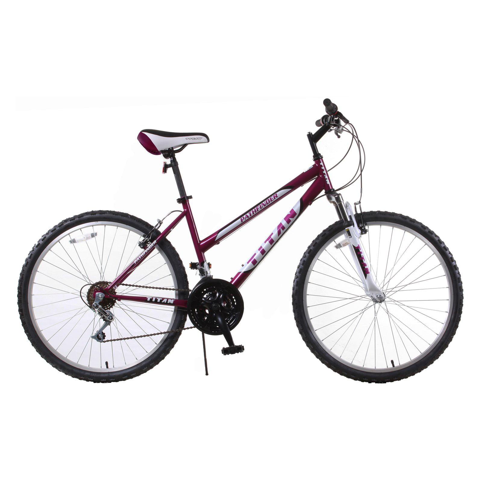 Titan Pathfinder Women's 18-Speed Mountain Bike, Purple