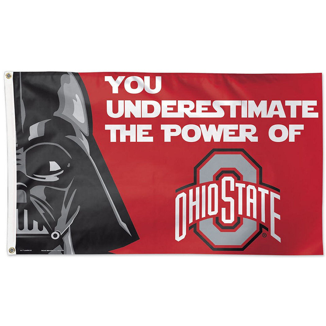 Ohio State Buckeyes Official NCAA 3'x5' Star Wars Darth Vader Banner Flag by Wincraft