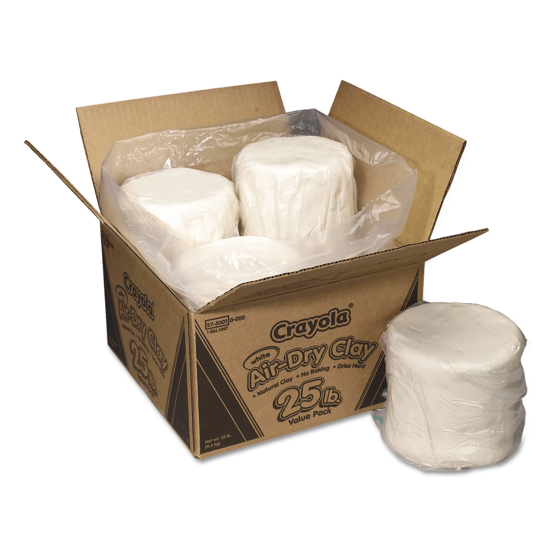 Crayola Air-Dry Clay Value Pack in White, 25-Pounds by BINNEY & SMITH / CRAYOLA