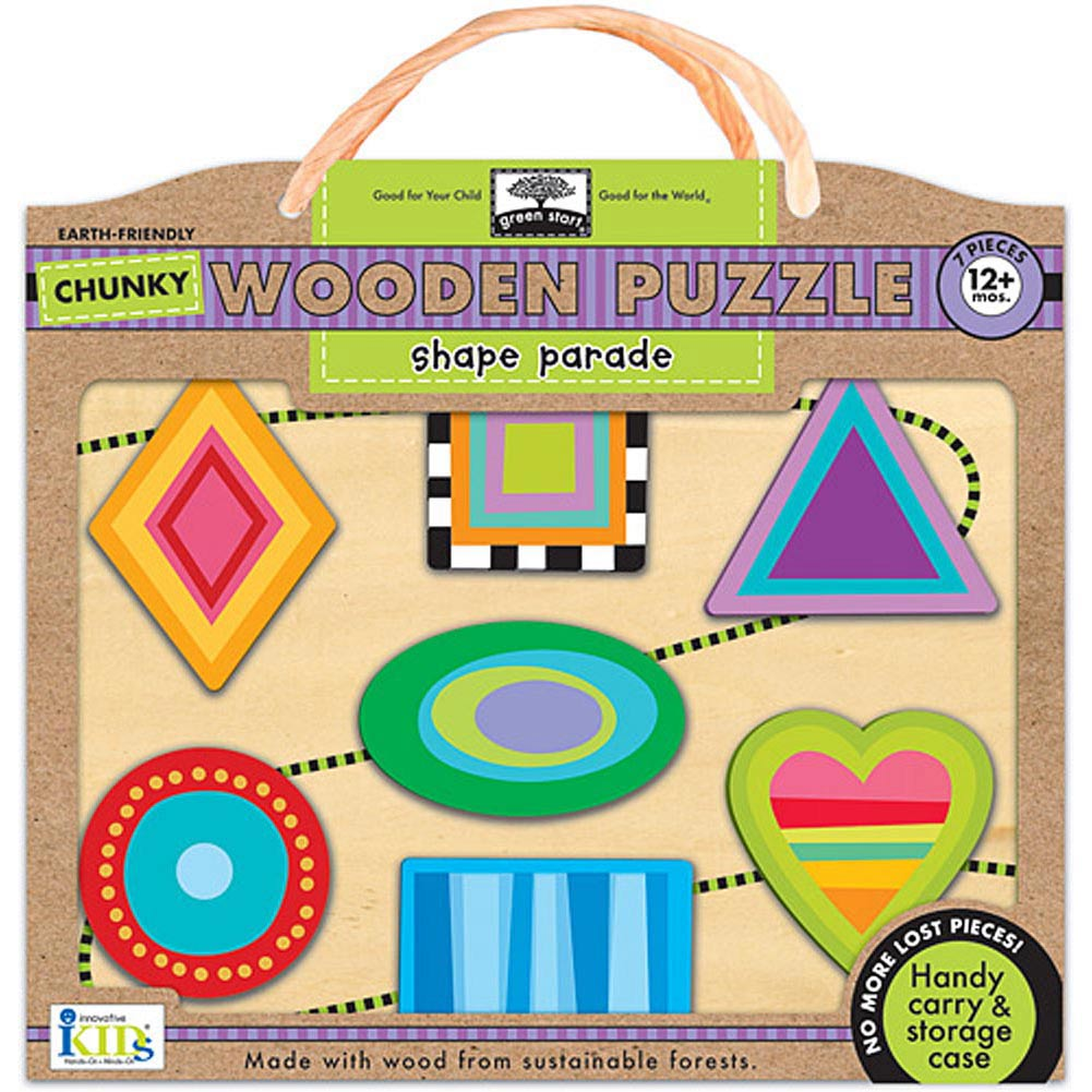 Shape Parade Wooden 7 Piece Puzzle