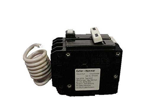 Cutler Hammer GFTCB240 40 Amp 2 Pole GFCI Circuit Breaker Plug-In 120 240V For Br Series... by Cutler Hammer