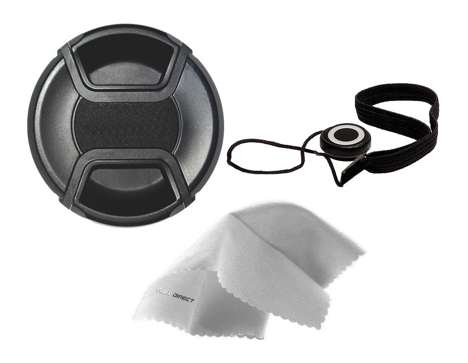 + Lens Cap Holder Digital Nc Sigma SD14 Lens Cap Center Pinch 72mm Nwv Direct Microfiber Cleaning Cloth.