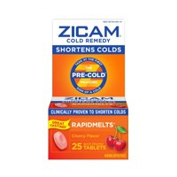 Zicam Cold Remedy RapidMelts, Cherry Flavor, 25 Tablets