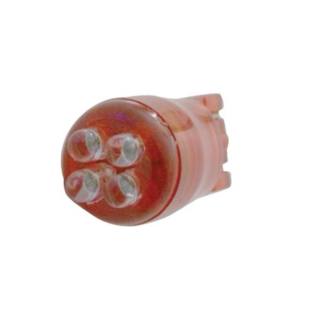 Red 4 LED 194 Bulb Lights / Wedge Base / 3 Piece