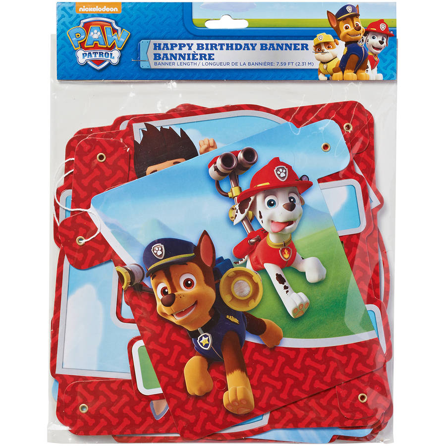 paw patrol birthday party banner, party supplies  walmart, Baby shower invitation