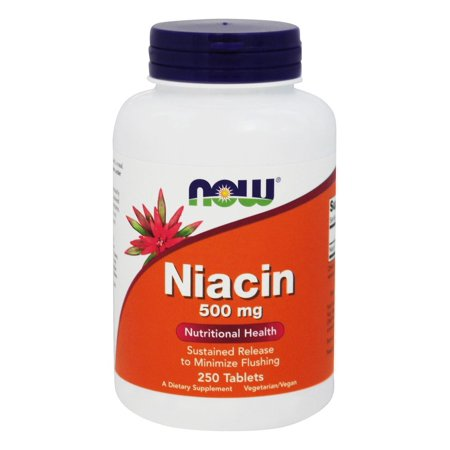 Niacin 500 Mg Time Release (NOW Foods - Niacin Time Release Vegetarian 500 mg. - 250 Tablets )