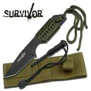 Survivor Fixed Stainless Steel Fire Starter Knife