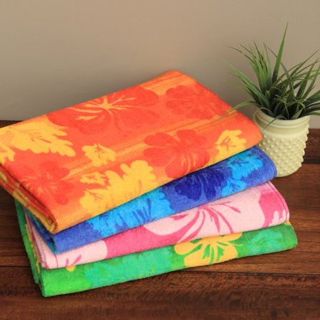 Kaufman Hibiscus Beach Towel (Set of 4)