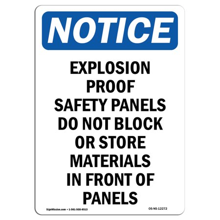 Explosion Proof Wall Mount Fixture (OSHA Notice Sign - Explosion Proof Safety Panels 5