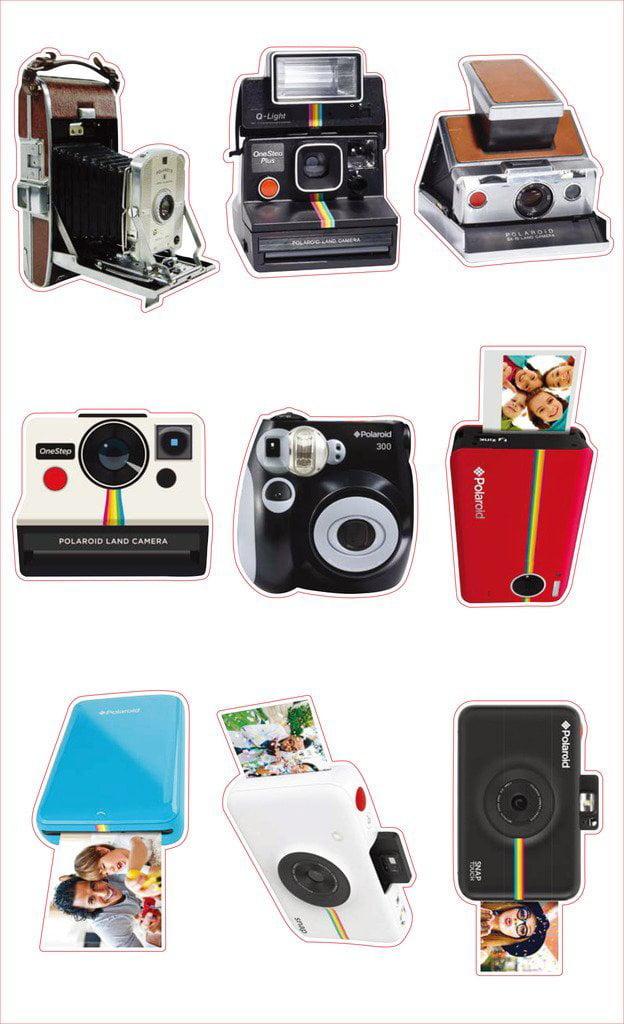 Polaroid Films Photo Craft Stickers pour Fujifilm Instax Mini Instant by Payne Roosevelt b