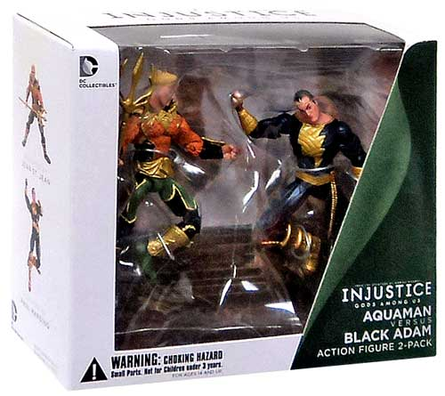 DC Injustice: Gods Among Us Aquaman & Black Adam Action Figure 2-Pack by DC Collectibles