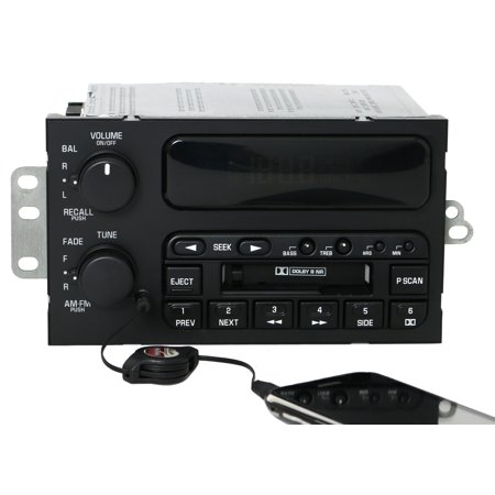 1997-2003 Buick Century AM FM Cassette Player w Auxiliary Input - Part 10303191 - Refurbished