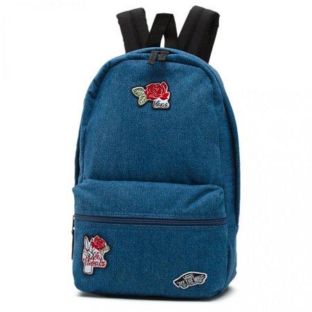 1723ca2e6c6 Vans - Vans Calico Denim Patch Mini Backpack School Bag - Walmart.com