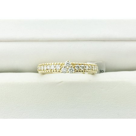 Judith Ripka Twisted Ring - Yellow Gold Berge Ring size 7 RCE143-DI