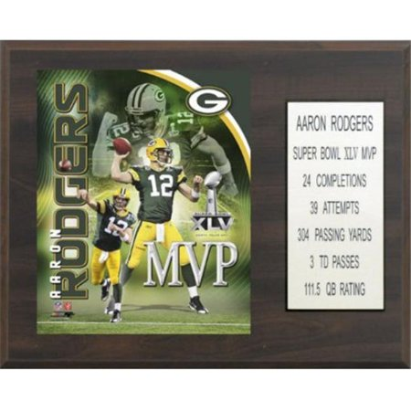 C   I Collectables 1215Arodgmvp Nfl Aaron Rodgers Green Bay Packers Super Bowl Mvp Plaque