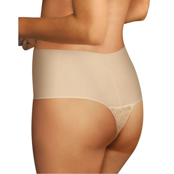 a3edd403b880 Maidenform - Women s Maidenform DM0049 Tame Your Tummy Lace Thong ...