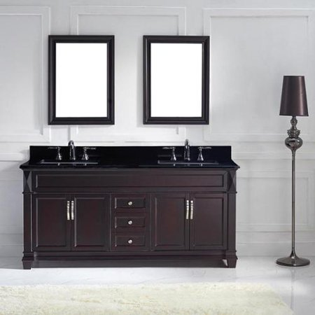 Virtu usa victoria 72 inch double bathroom vanity cabinet for Bathroom cabinet 8 inches wide