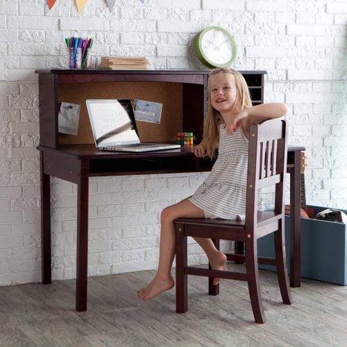 Kids Media Desk & Chair Set - Espresso