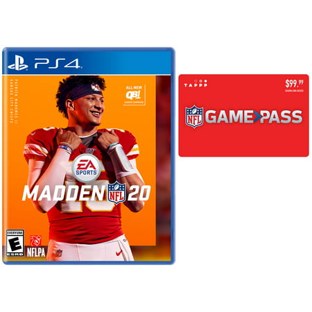 Madden NFL 20, PlayStation 4 & NFL Game Pass Season Gift Card (email (Four Seasons Gift Card For Sale)