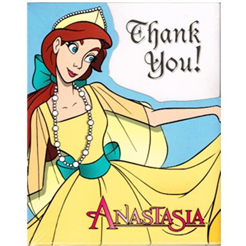 Anastasia Vintage 1997 Thank You Notes w/ Envelopes (8ct)