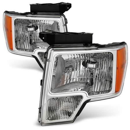 Fits 09-14 Ford F-150 F150 Pickup Headlights Lights Lamps 2009-2014 Left+Right