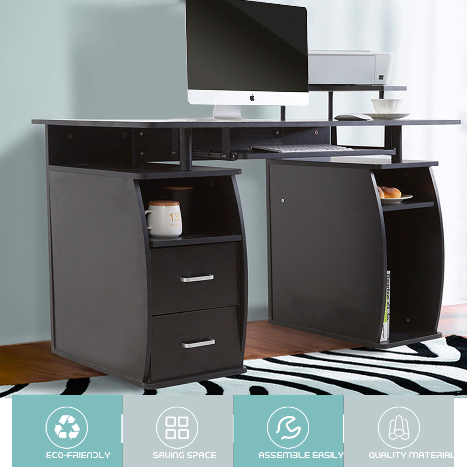 Mecor Computer Desk Home Office Table Workstation With