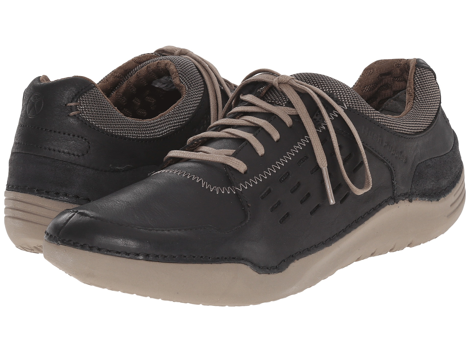 Hush Puppies HINTON METHOD Mens Black Leather Oxfords Comfort Casual Shoes by Hush Puppies