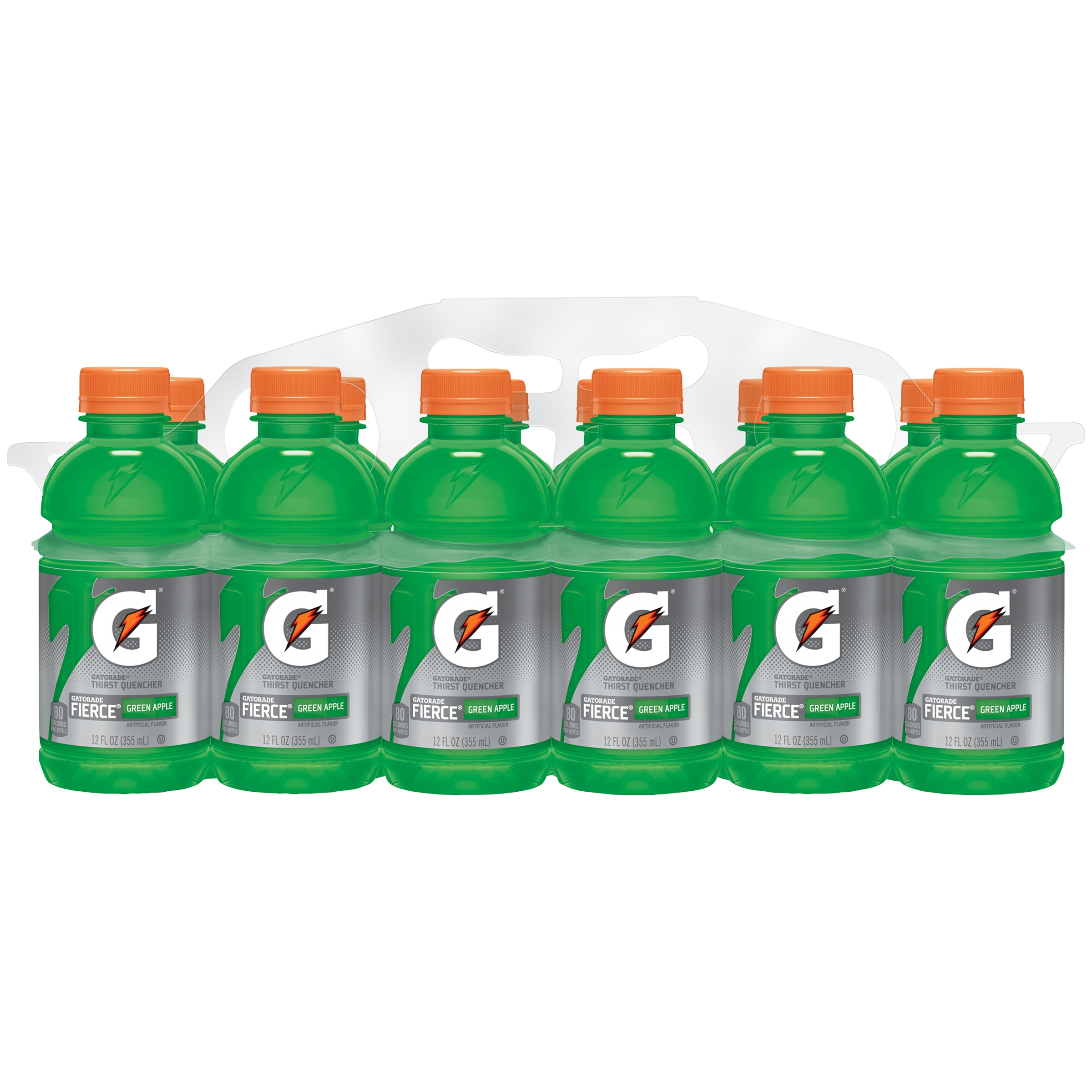 Gatorade Thirst Quencher Sports Drink, Green Apple, 12 Fl Oz, 12 Count