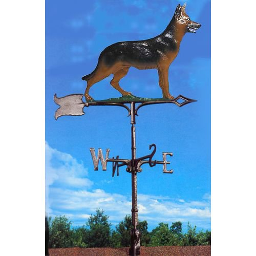 Painted German Shepherd Weathervane by Whitehall