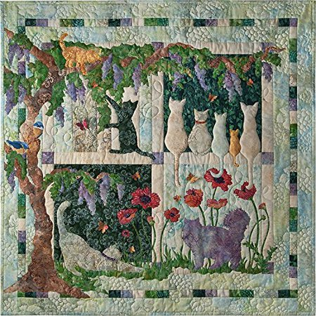 Kit Wisteria Lane 39   X 39   Pre Cut Laser Quilt Kit Pattern Top Binding By Mckenna Ryan For Pine Needles Designs