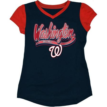 MLB Washington Nationals Girls Short Sleeve Team Color Graphic Tee](Washington Nationals Mlb Com)