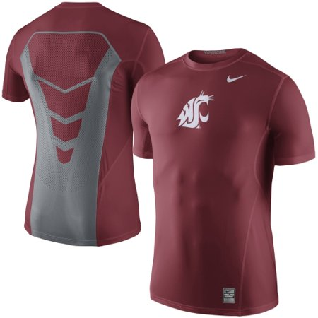 Washington State Cougars Nike Sideline Hypercool 3.0 Dri-FIT Top - Crimson (Nike Pro Combat Shirts Hypercool)