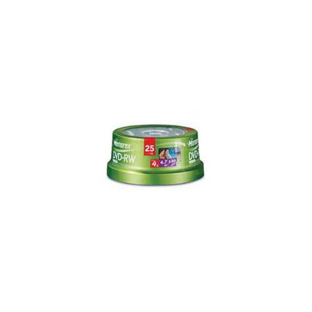 Memorex 4x DVD-RW Media 4.7GB 120mm Standard 25 Pack Spindle by
