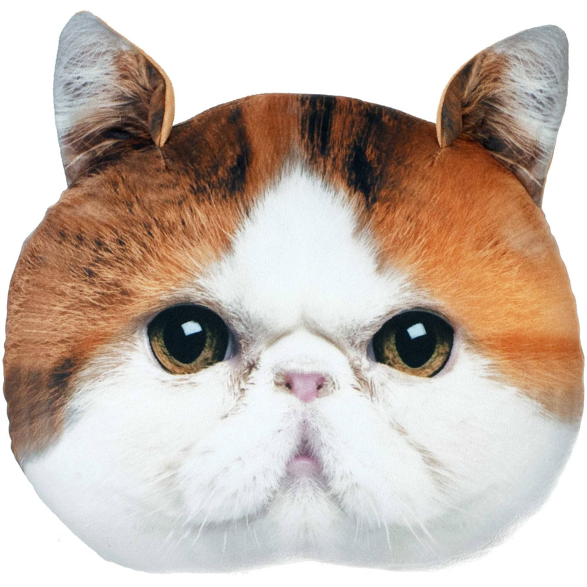 Snoopy Cat Plush Photo Real Pillow, 1 Each