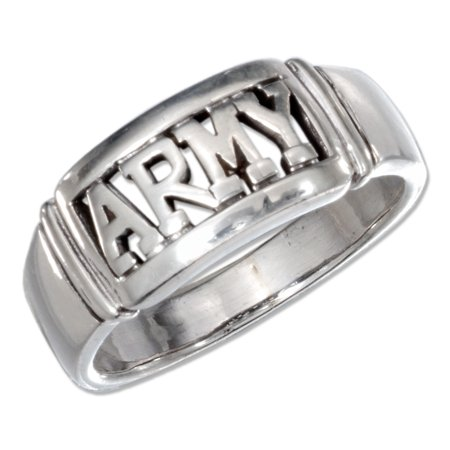 - STERLING SILVER ARMY BAND RING