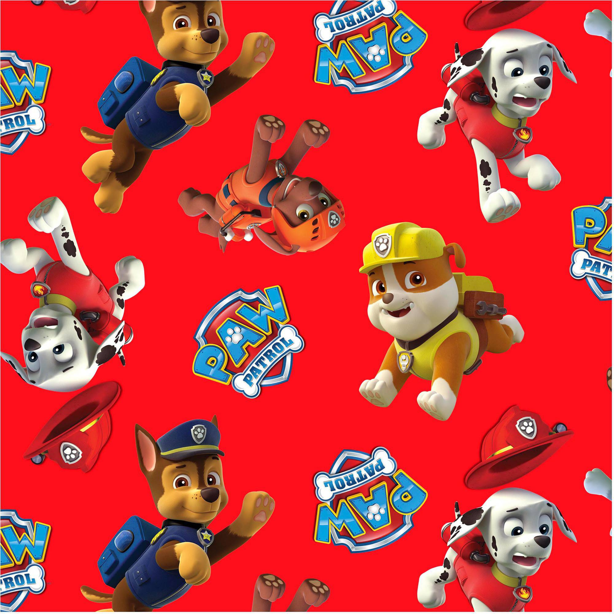 """David Textiles Paw Patrol Toss 44"""" Craft Cotton Fabric By The Yard"""