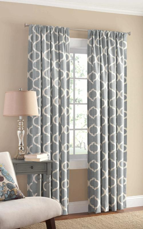Mainstays Canvas Iron Work Curtain Panel by Keeco