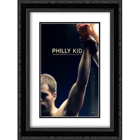 The Philly Kid 18x24 Double Matted Black Ornate Framed Movie Poster Art Print (Phillies Matt)