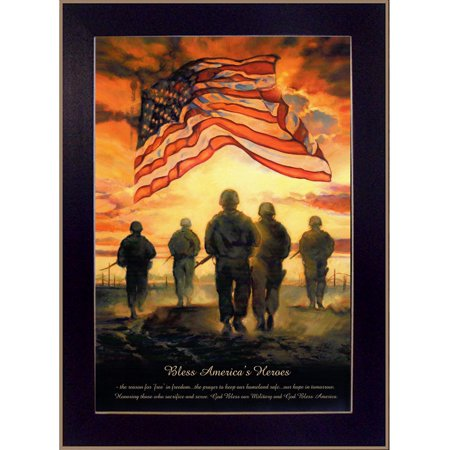 """Bless America's Heroes"" by Bonnie Mohr Printed Framed Wall Art - image 2 of 2"