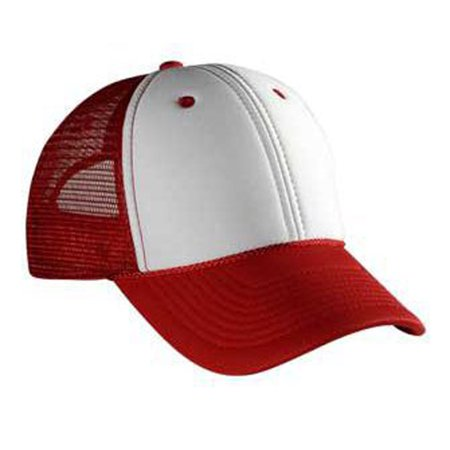 Otto Cap Polyester Foam Front Low Profile Style Mesh Back Caps - Hat / Cap for Summer, Sports, Picnic, Casual wear and Reunion - Low Profile Style Cap