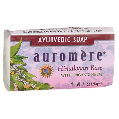 Auromere Ayurvedic Bar Soap Himalayan Rose, 0.71 oz