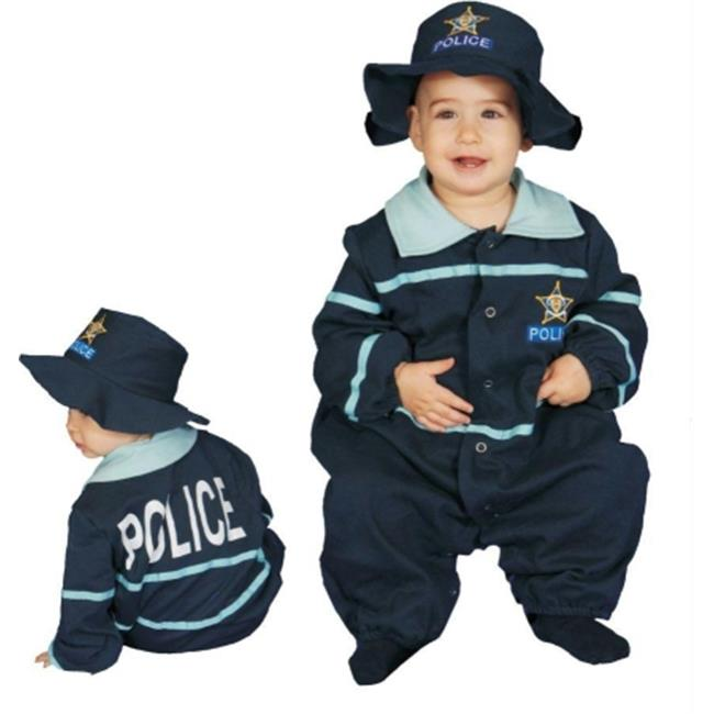 Costumes For All Occasions Up295 Baby Police Officer Bunting
