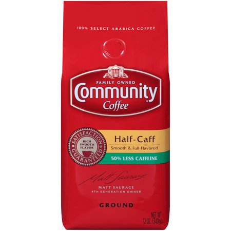 Community® Coffee Half-Caff 50% Less Caffeine Ground Coffee 12 oz. Bag