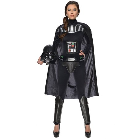 Star Wars Darth Vader Female Bodysuit Women's Adult Halloween Costume (Famous Rock Star Halloween Costumes)