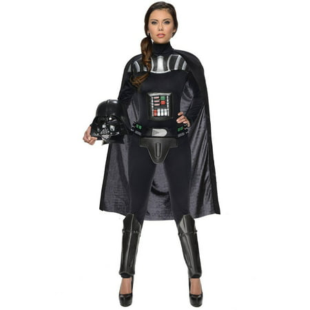 Star Wars Darth Vader Female Bodysuit Women's Adult Halloween Costume - Darth Vader Costume Pieces