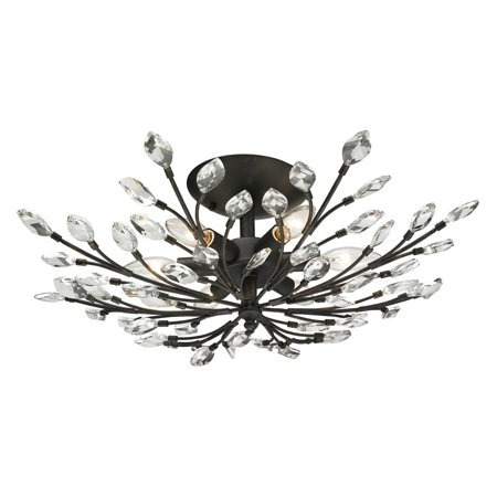 ELK Lighting Crystal Branches 11772/6 Semi Flush Mount Light ()